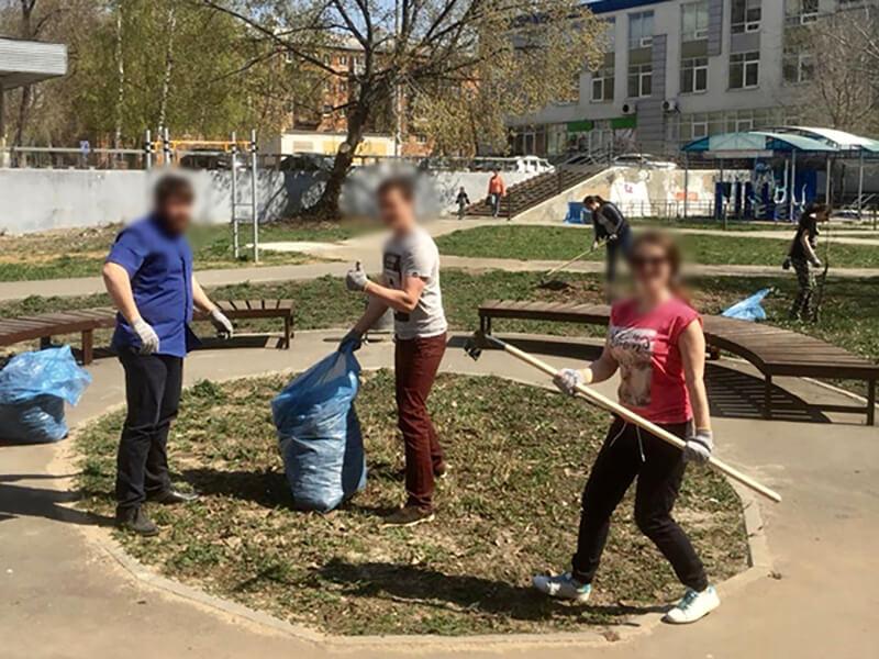 """Прошёл субботник в АНО """"Чистое небо"""""""